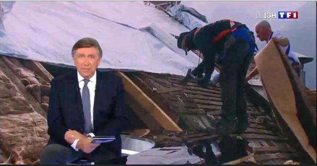 Moreira couverture au JT de 13h de TF1